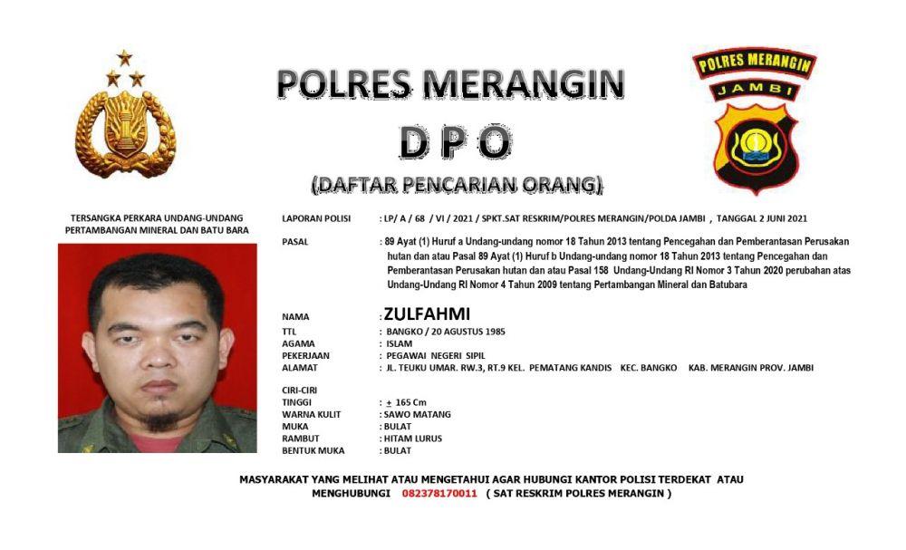 Daftar Pencairan Orang (DPO) Polres Merangin